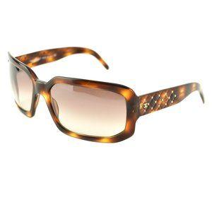 CHANEL Tortoise Brown Crystals & CC  Sunglasses lp